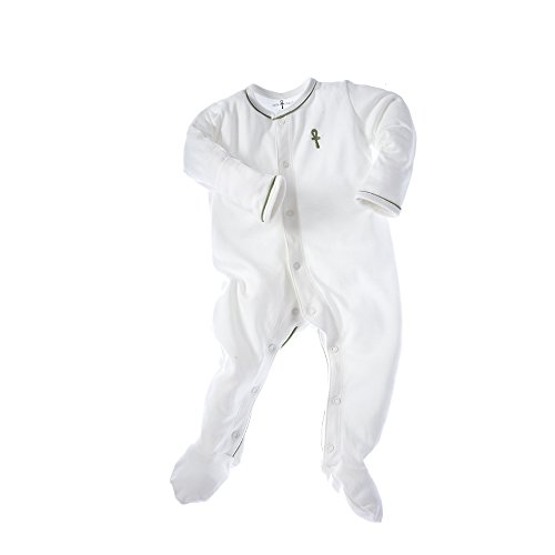 little-pharo-100-extra-long-staple-egyptian-cotton-footed-one-piece-bodysuit-ivory-with-green-piping