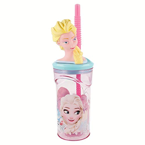 HOOM HMI Disney and Marvel Character Plastic Licensed Frozen BPA-Free 3D Face tumbler with straw, 350ml Price & Reviews