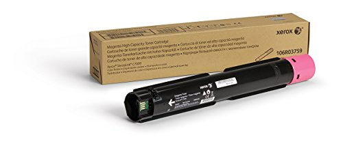 Genuine Xerox Magenta High Capacity Magenta Toner Cartridge (106R03759) - 10,100 Pages for use in VersaLink C7000 ()