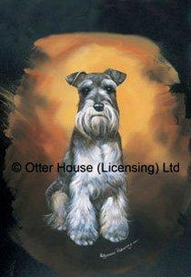 Schnauzer Pollyanna Pickering Dog Breed Garden 12''x17'' Flag