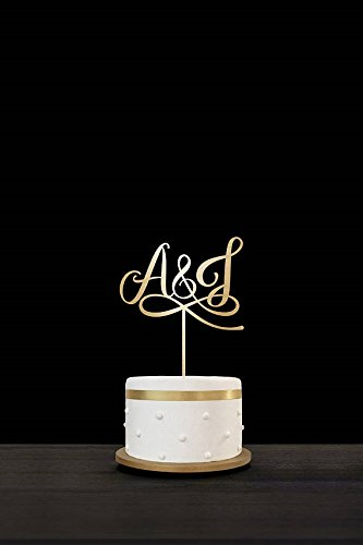 Personalised Initials Wedding Cake Toppers Rustic Wood For Wedding