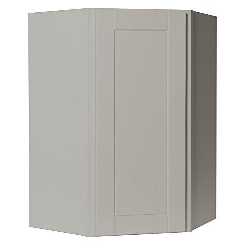 - Hampton Bay Shaker Assembled 24x36x12 in. Diagonal Corner Wall Kitchen Cabinet in Dove Gray