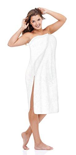 Luxury Spa Wrap Womens Bath Shower Towel Wrap (XXL 1X 2X, White)