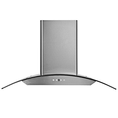 "Price comparison product image CAVALIERE 42"" Wall Mounted Stainless Steel / Glass Kitchen Range Hood 860 CFM AP238-PSD-42"
