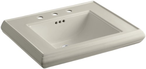 KOHLER K-2259-8-G9 Memoirs Pedestal Bathroom Sink Basin with 8