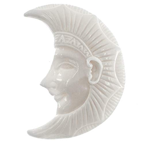 1 11/16'' Egypt Pharao Style Crescent Moon Bison Bone Bead CAB cabochon YE-379