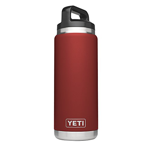 YETI Rambler 26 oz Stainless Steel Vacuum Insulated Bottle, Brick Red
