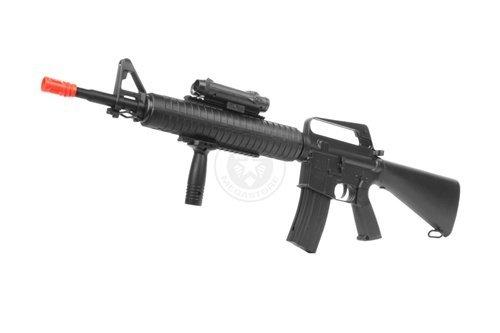 wellfire m16a3 Spring Airsoft Rifle - w/Vertical Grip & Flashlight Unit m16(Airsoft Gun)
