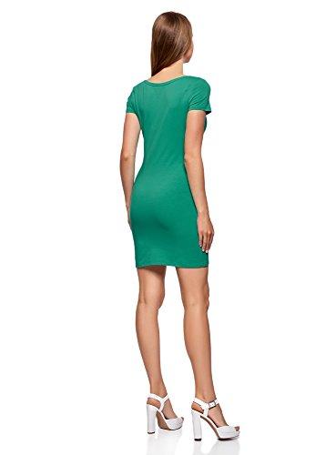 oodji Ultra Mujer Vestido de Punto (Pack de 3) Verde (6D00N)