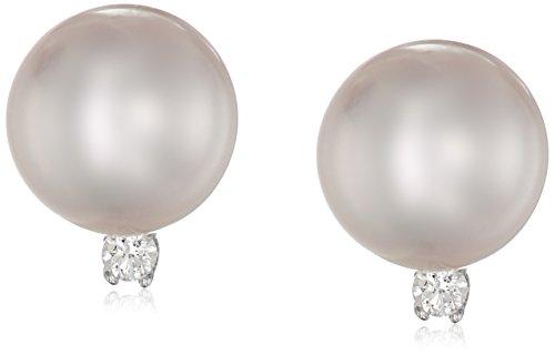 TARA Pearls Natural Color Akoya White Pearl Earrings, 8mm