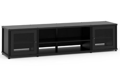Aluminum Salamander Shelf (Salamander Designs SB248B/B Synergy Quad Model 248 Cabinet  - Black with Black Posts)
