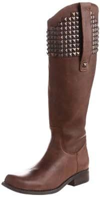 Steve Madden Women's Reggime Knee-High Boot,Brown Leather,5 M US