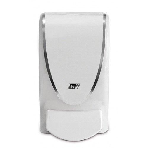 DEB 1 Liter ProLine Curve White & Chrome Dispenser for Deb Creams, Lotion, Foam Soap, Sanitizer by Deb Group (Image #1)