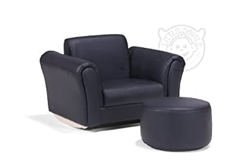 Lazybones Black Pu Leather Rocking Chair Armchair Kids Childrens