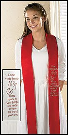 Come, Holy Spirit Confirmation Stole Felt 4