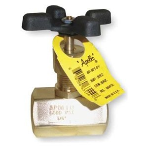 Globe Valve, 1/2 In, FNPT, Brass by Apollo