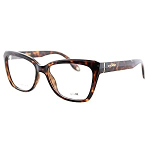 Givenchy GV 0005 LSD Havana Plastic Cat-Eye Eyeglasses 52mm