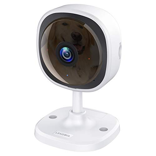 Security Camera, Lensoul 1080P HD Wireless IP Camera Built in Two-Way Audio, Motion Detection, 2.4G Security Surveillance CCTV Camera Night Vision-Cloud Service Available (Upgraded)
