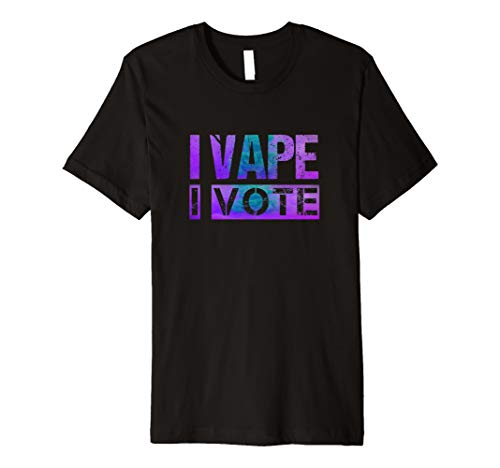 Mens I Vape I Vote Purple Teal Adults Like Flavors Vaping Ban Premium T-Shirt (Best Vape Mod For Clouds And Flavor)