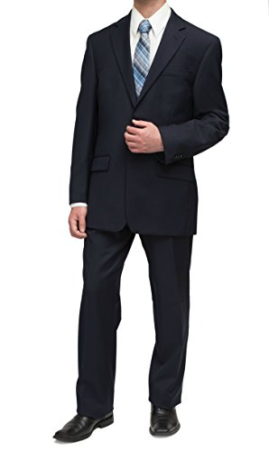Michael Kors Mens Solid Navy Blue Wool Suit- Size - In Price Michael Usa Kors