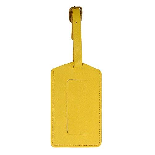 Andrew Philips Florentine Napa Leather Luggage ID Tag in Yellow