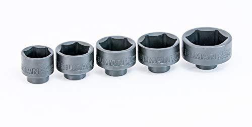 - Steelman 42275 5-Piece 3/8-Inch Drive Low Profile Oil Filter Socket Set