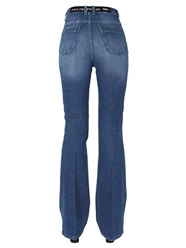 V031207300300 Azul Algodon Jeans Philosophy Mujer 8RBxFF