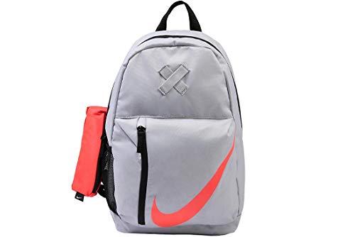 Nike Kids' Elemental Backpack, Kids' Backpack with Comfort and Secure Storage, Dark Grey/Black/Volt
