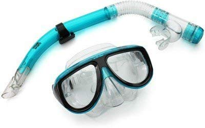 Renewed  Viva Sports Adult Combo Mask and Snorkle Swimming Set  Blue