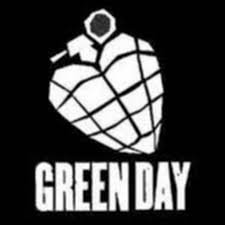 GREEN DAY ROCK BAND GRENADE SYMBOL 6' DECORATIVE DIE CUT DECAL - WHITE