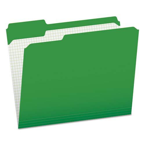 (Reinforced Top Tab File Folders, 1/3 Cut, Letter, Green, 100/Box, Sold as 100 Each)