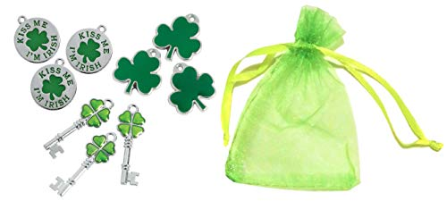 - St. Patrick's Day 9pc Mixed Metal Charms Gift Set - 1/2