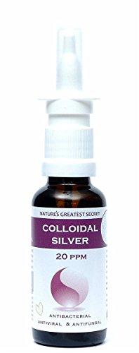 Natures Greatest Secret 20 ppm Colloidal Silver (Nasal Spray) 30ml(Pack of 4)