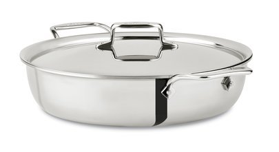 All‑Clad d5 Stainless Steel All In One Pan with Lid, 6‑Qt. # SD5521617