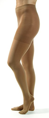 JOBST Relief Compression Pantyhose 30-40 mmHg, Waist High, Closed Toe, Medium, Beige