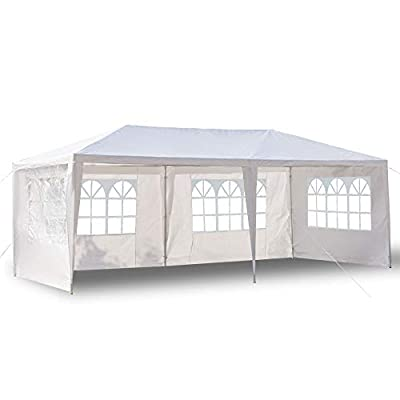 Mecor 10'x20' Canopy Tent Outdoor Party Wedding Tent with 4 Removable Sidewall, Upgraded Stainless Steel Tube Waterproof Gazebo Tent for Shows, Camping, BBQ : Garden & Outdoor