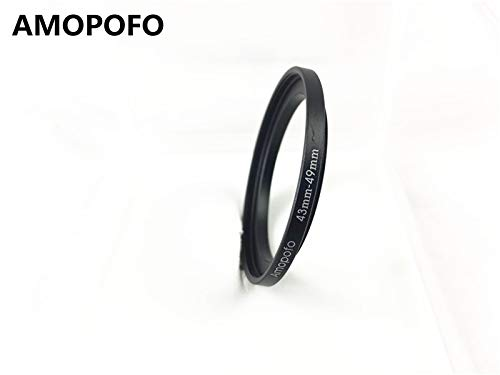 43-49mm/43mm to 49mm Step Up Ring Filter Adapter for canon Nikon Sony UV,ND,CPL,Metal Step Up Ring Adapter by AMOPOFO