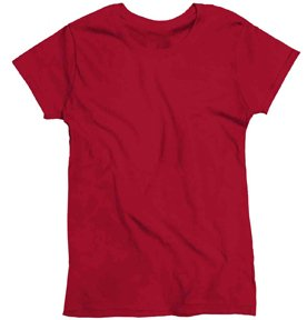 Gildan 5000L - Missy Fit Ladies T-Shirt Heavy Cotton - First Quality - Cardinal Red - Large (Women Quality Red T-shirt)