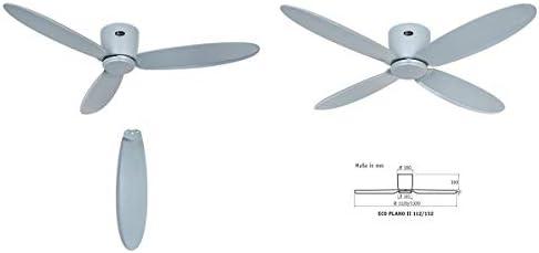 Casafan Ventilador para techos Bajos 313285 Eco Plano II Gris - 132cm / hasta a 25 m2 / Mando a Distancia: Amazon.es: Bricolaje y herramientas