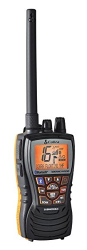 Cobra MRHH500FLTBT Floating VHF Radio with Bluetooth Wireless Technology and Rewind-Say-Again
