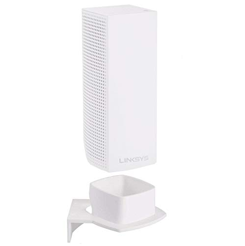 Linksys Velop Wall Mount, Space-Saving Stand Holder for Linksys Velop Tri-Band Whole Home WiFi Mesh System AC6600 AC4400 AC2200, Reinforced ABS, Perfect Unified (1 Pack)