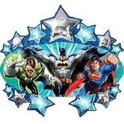 Liga de la justicia Superhéroe Batman Superman 88,9 cm de la fiesta de cumpleaños de la fuente del globo