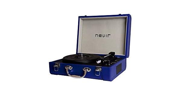 Nevir Tocadiscos Portatil Nvr804vbue: BLOCK: Amazon.es: Electrónica