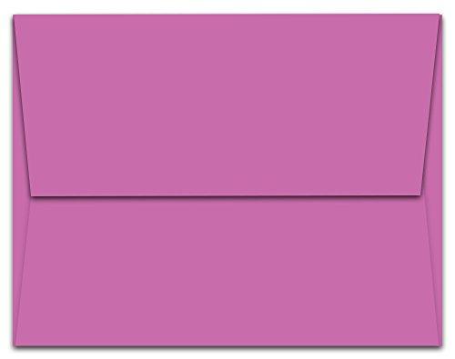 """100 Plum Purple A7 Envelopes - 7.25"""" x 5.25"""" - Square Flap"""