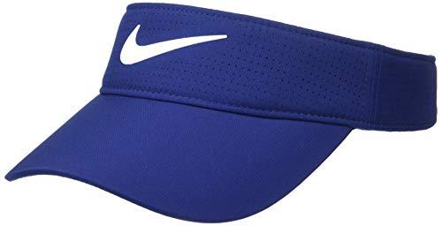 Nike Women's Aerobill Visor Hat, Blue Void/Anthracite/White, Misc