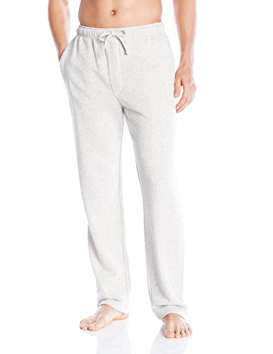 Emporio Armani Men's Retro Eagle French Terry Lounge Pant Logo Detail, Melange Grey, X-Large