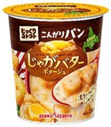 ポッカサッポロ じっくりコトコト こんがりパン じゃがバターポタージュ カップ入り 31g×6個入×(2ケース)