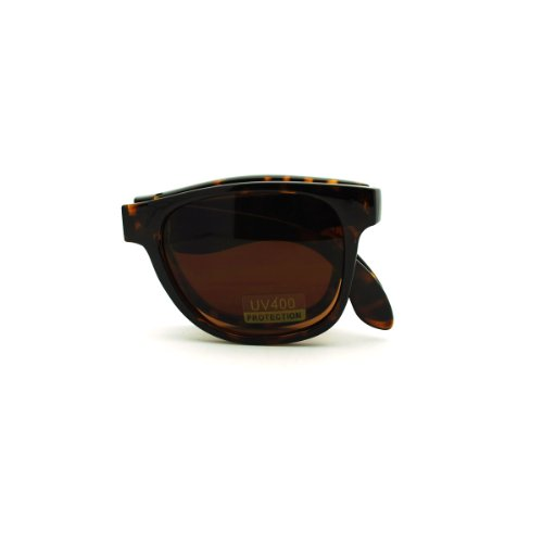 Folding Foldable Sunglasses Classic Square Frame Unisex Fashion ()