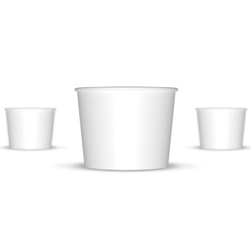 12 oz Paper Hot / Cold Ice Cream Cups - 100ct (White)