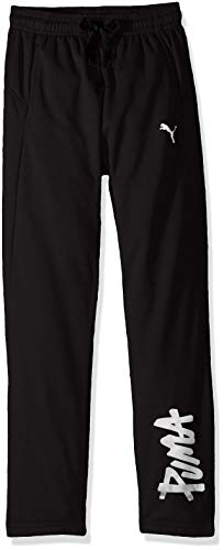 PUMA Big Boys' French Terry Pants, Black, XL